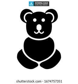 koala icon or logo isolated sign symbol vector illustration - high quality black style vector icons