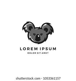 koala logo design template stock vector royalty free 1053361157