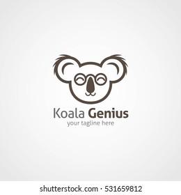 koala logo design template vector illustration stock vector royalty