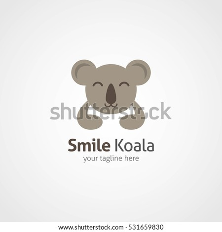 Koala Logo Design Template Vector Illustration Stock Vector (Royalty ...