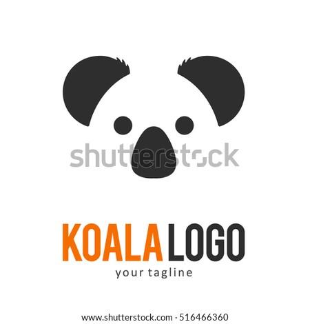 koala logo icon symbol template stock vector royalty free