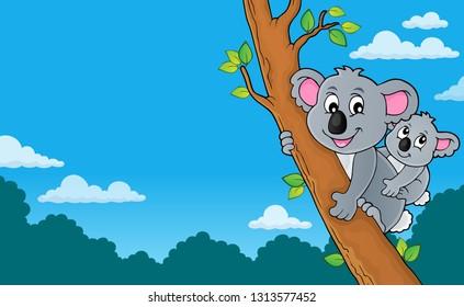 Koala theme image 4 - eps10 vector illustration.