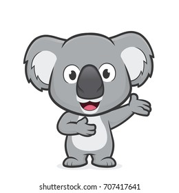Koala in welcoming gesture