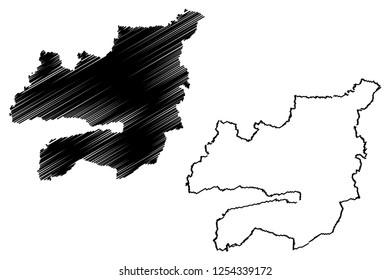 Kocaeli (Provinces of the Republic of Turkey) map vector illustration, scribble sketch Kocaeli ili map