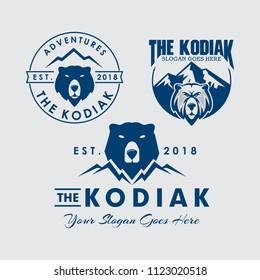 Kodiak Bear Logo Template