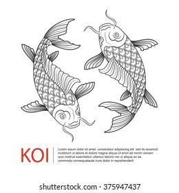 koi carp logo. vector