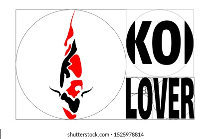 Koi fish japan transformed to simple koi fish painting vector. The koi fish drawing only described as a shadow, however when viewed will reflect a koi fish in japan. Simple logo design with letter