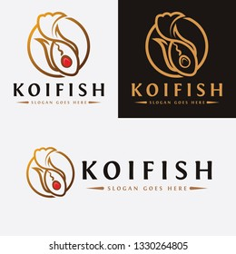 Koi Fish Line Art Logo