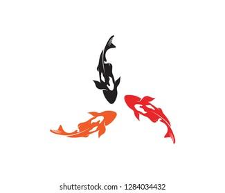 Koi fish logo vector animals
