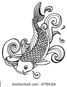 koi fish (vector)