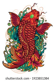 Koi fish vector illustration. EPS 10 format