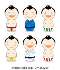Kokeshi Avatar Set - sumo wrestler