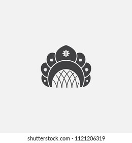 kokoshnik base icon. Simple sign illustration. kokoshnik symbol design from Russia series. Can be used for web, print and mobile