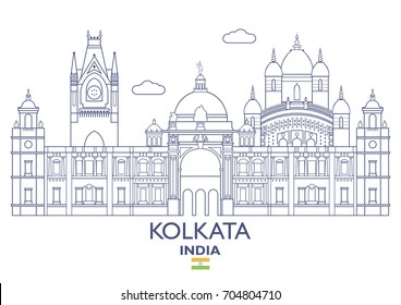 Kolkata Linear City Skyline, India