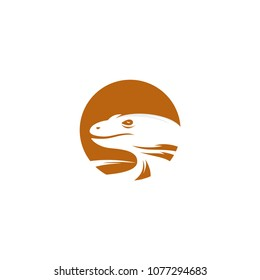 komodo dragon emblem badges logo template vector illustration