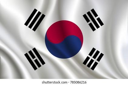 Korea Flag background