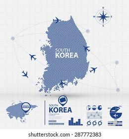 korea map infographic