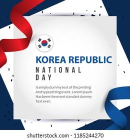 Korea Republic National Day Vector Template Design Illustration