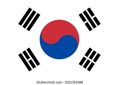 Korea South flag.vector