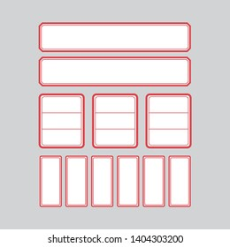 Korea style label paper, tag for index cards
