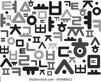 korean alphabet, Korean Hangul Pattern