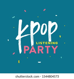 korean kpop listening party vector 260nw 1544804573