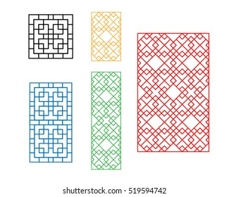 Korean ornament for door, window, wall and fence