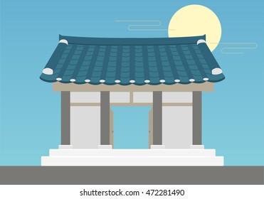Korean style house.