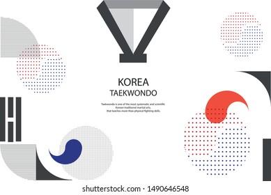 Korean Taekwondo Graphics Pattern Background