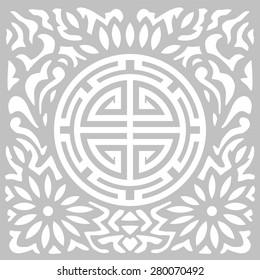 Korean tradition flower pattern.