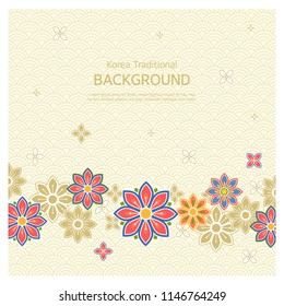 Korean tradition pattern background.