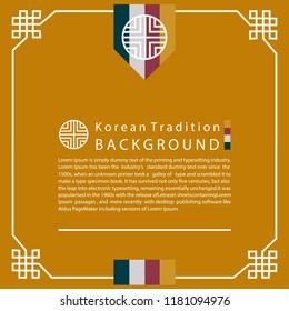 9bdbb1007e7 Korean Traditional background for design. Vector illustration eps 10.