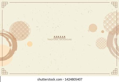 Korean traditional background. Illustration vector EPS10