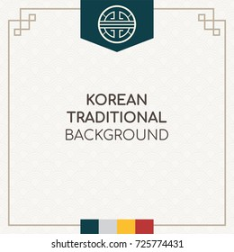 Korean traditional background vector illustration.