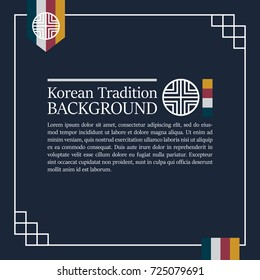 Korean Traditional blue background for design. Vector illustration eps 10.