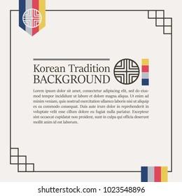 1b8a6eb3ef9 Korean traditional colorful background for design. Vector illustration eps  10.