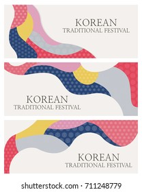 Korean Traditional Culture Day Concept Banner Design