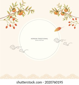 Korean traditional holiday Chuseok background