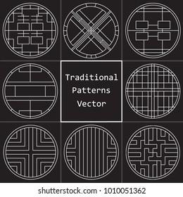 Korean traditional pattern./ Asian culture./ Vector illustration. /