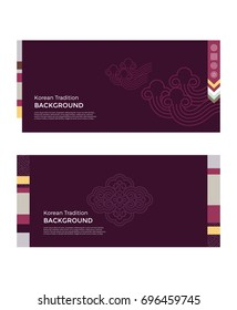 Korean traditional pattern background banner