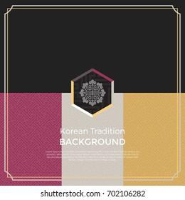 Korean traditional pattern background banner