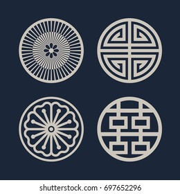 Korean traditional pattern icon