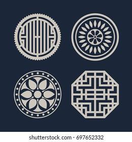 Korean traditional pattern icon