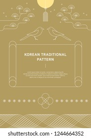 Korean traditional vector background.