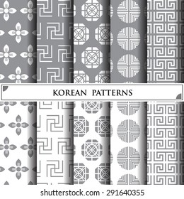 korean vector pattern,pattern fills, web page background,surface textures