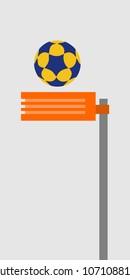 korfball hoops vector illustration