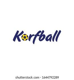Korfball logo icon vector illustration