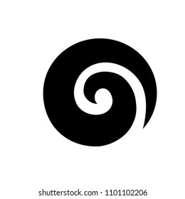 Koru. Maori symbol is a spiral shape based on silver fern frond