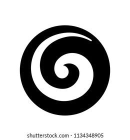 Koru, Maori symbol is a spiral shape based on silver fern frond