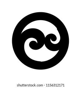 Koru, Maori symbol is a spiral shape based on silver fern frond